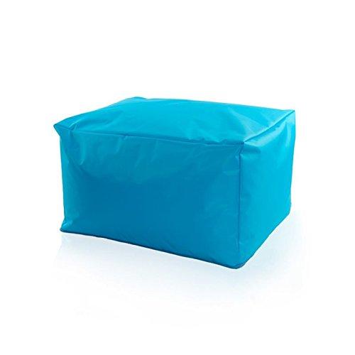 RELAXFAIR Sitzsack Outdoor XXL Wasserfest / für Kinder Jugendliche und Erwachsene / in Grau Rosa / Mit waschbarer Hülle Bezug / Couch-Liege für draußen / mit Innensack Innenhülle / Sessel mit Hocker (Hocker, Blau)