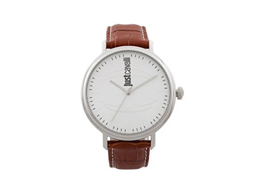 Just Cavalli Mens Analogue Classic Quartz Watch with Leather Strap JC1G012L0015