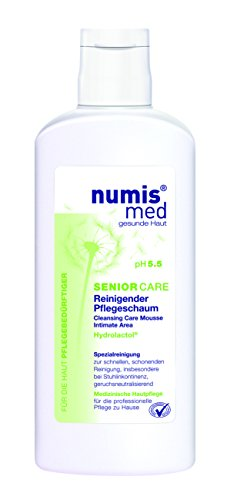 numis med SENIOR CARE Reinigender Pflegeschaum  - vegan & parabenfrei, 2er  Pack (2 x  180 ml)
