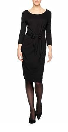 s.Oliver BLACK LABEL Damen Kleid (knielang) 11.311.82.2912, 44, Schwarz (9999)