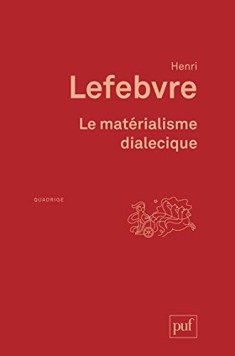 Le Matérialisme dialectique PDF Books