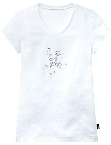 Schiesser Mädchen Schlafanzugoberteil Mix & Relax Shirt 1/2, (Weiss 100), 164