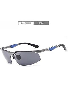 DYEWD Gafas de sol,Gafas de sol para hombres, Gafas de sol nuevas, Gafas de sol polarizadas, Gafas de sol sin...