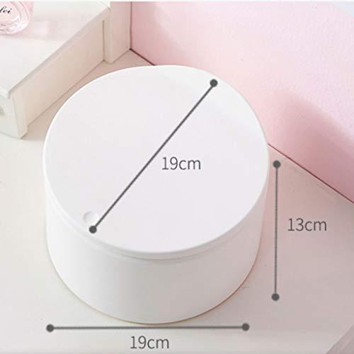Zlw-shop Secchi per la spazzatura Scatola di immagazzinaggio di plastica Desktop Creativo Mini Cestino da tavolino (Color : Black)