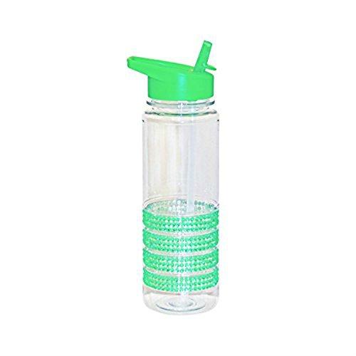 SHINE Flip Straw Tritan Drinks Sport Hydration Water Bottle 700ml Cycling Hiking BPA Free (GREEN BLING)