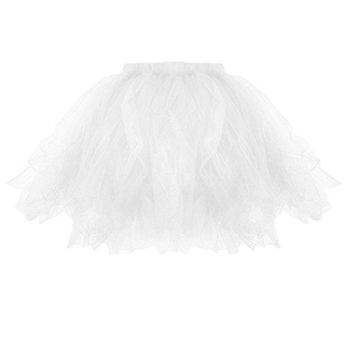 Kanpola Damen Plissee Tutu Erwachsenen Tutu Rock Plissee Mini Röcke (M /Gr 38, Weiß) (Plissee-leder-kilt)