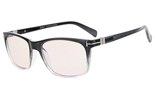 Eyekepper Mode Brillen mit UV Schutz,Anti Reflex Leser für Computer,Gelb getönte Gläser (Grau, 0.00)