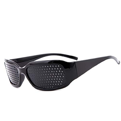 Rekkles Retro-Sonnenbrillen Kleine Pin-Loch-Brillen Damen Herren Sehkraft Verbesserer Brille