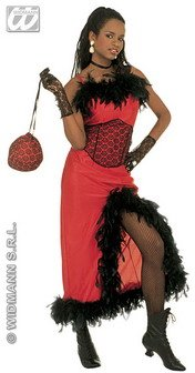 WIDMANN Damen Saloon Madame Kostüm XL Gr. 42-50 für Moulin Rouge Wild West Kostüm
