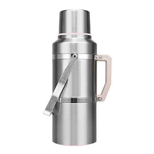 ZHHL 3,6 L Wasser-Thermoskanne, Edelstahl, doppelwandig, vakuumisolierter Topf, Thermokanne für Zuhause und draußen, auslaufsicher, Wärmeisolation 37x13.5cm rot - Thermal Dispenser Kaffee