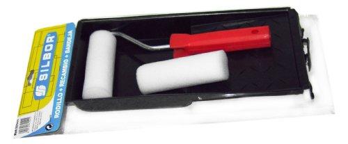 Silbor - Kit rullo per pittura, 10 cm + ricarica + vassoio S