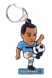 Soccer Buddies - Manchester City FC Geschenk Vincent Company Offizielle Lizenziert SoccerBuddies Man City Fußball Geschenk Schlüsselring Schlüsselkette Fantastische Qualität 2D Geprägtes PVC