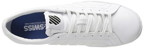 K-Swiss BELMONT SO, Sneakers basses homme Blanc - Weiß (WHITE/BLACK 102)