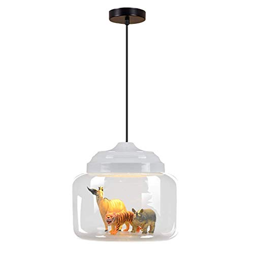 Belief Rebirth Glas Pendelleuchte for Kinderzimmer, Neuheit 9W LED Decke Hängelampe - Schlafzimmer Mädchen Zimmer Flur Creative Animal Decor Kronleuchter - Warmweiß (Color : White) (Mädchen Hängelampe)