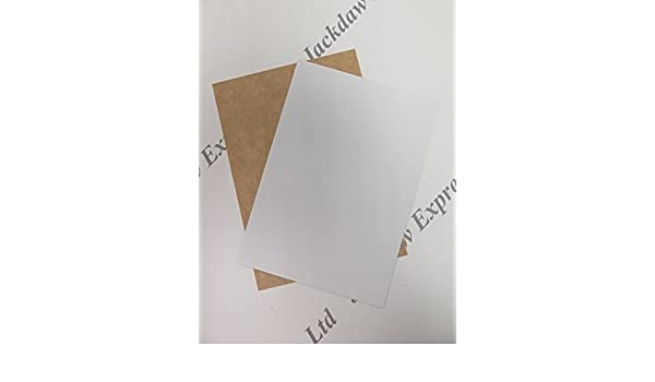 White One Sided Kraft Card 220gsm Choose 25 x A4 or 50 x A5 for Cardmaking Craft