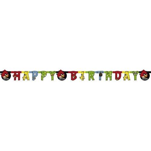 NEU Girlande Happy Birthday Angry Birds 180 (Angry Kostüme Kinder Bird)
