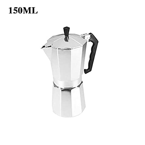 Maphissus Espresso Stove Top Coffee Maker - Continental Moka Percolator Pot - 2, 6, 9, 12 (150ML)