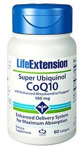Life Extension Super Ubiquinol Coq10 with Enhanced Mitochondrial Support (60) by Life Extension