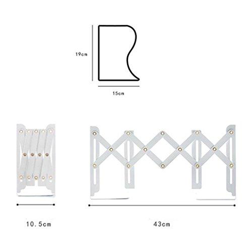 DFHHG® Blanco del negro ajustable del estudiante del estante del libro 15 * 19 * 10.5 / 43cm durable ( Color : Blanco )