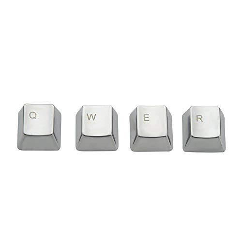 wesappinc Metall Tastenkappe qwerasdf 8Key Cap für Cherry MX Switches und kailh Schalter Mechanische Tastatur Gamer Tastenkappen Ersatz QWER keycap (Switch-entferner Tastatur)