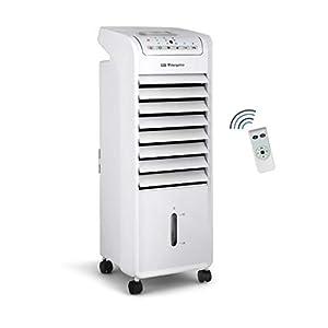 Orbegozo AIR 46 Climatizador evaporativo 3 en 1, 3 velocidades, temporizador, acumuladores de frío, depósito de 6 l…