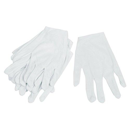 Anti-handschuh (6 Paar weiß elastische Vollfinger Arbeitsgruppe Labor Anti-Statik Handschuhe)