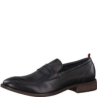 s.Oliver Herren Slipper 14200-20,Männer College Schuh,Loafer,Halbschuh,Elegant,Business-Schuh,Anzugschuh,Büro-Schuh,Blockabsatz 2cm,Black,45 EU