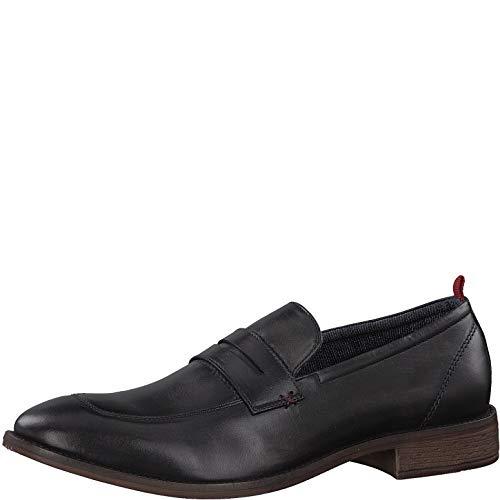 s.Oliver Herren Slipper 14200-20,Männer College Schuh,Loafer,Halbschuh,elegant,Business-Schuh,Anzugschuh,Büro-Schuh,Blockabsatz 2cm,Black,43 EU