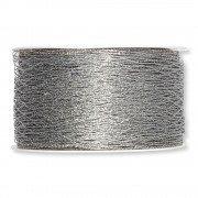 Stretch-Gitterband Schleifenband Silber 15cm lang Raschelband Tüllband Dekoband