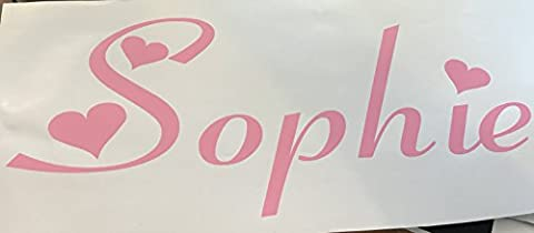 Personalised Name - Car Window Bumper Sticker - Bedroom Sticker- Mirror Sticker 100mm x 200mm ***Any Colour Any Name ***Please Message us with Name Font and Colour