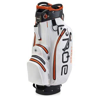 BIG MAX AQUA Sport 2 Golf Cartbag 2018 - 100% Wasserdicht (White/Black/Orange) -