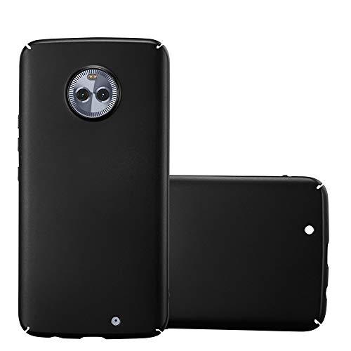 Cadorabo Hülle für Motorola Moto X4 - Hülle in Metall SCHWARZ - Hardcase Handyhülle im Matt Metal Design - Schutzhülle Bumper Back Case Cover