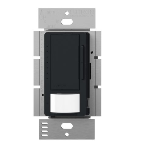 Lutron Maestro LED Dimmer switch with motion sensor, no neutral required, MSCL-OP153M-BL, Black by Lutron