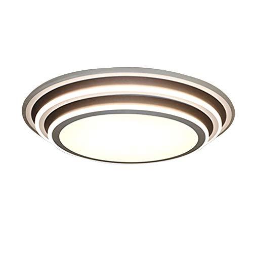 Luz de techo LED, 3000k ~ 6000k Lámpara de techo con montaje al ras regulable, IP44 Luces colgantes...