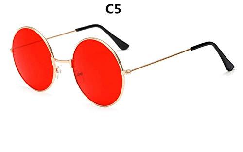 CNSP Brillen,Vintage Sonnenbrillen,2019 metal circular fashion sunglasses women brand design Retro marine lenses red personality,C5