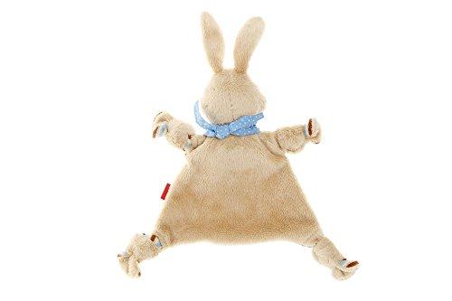 bae497370d sigikid, Mädchen und Jungen, Schnuffeltuch Hase, Semmel Bunny, Beige/Blau,  47893   Die Geschenkidee