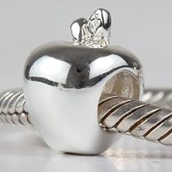 Abalorio de plata de ley 925 para pulseras de cadena de serpiente europea, regalo de Navidad