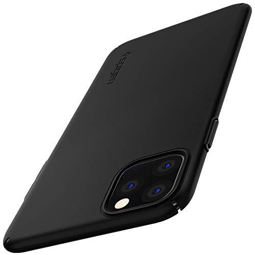 Spigen Funda iPhone 11 Pro MAX, Thin Fit Air con Plástico Fino Mate con 0,7 mm de Grosor y Un Agarre Excelente Compatible con Apple iPhone 11 Pro MAX (6.5') 2019 - Black