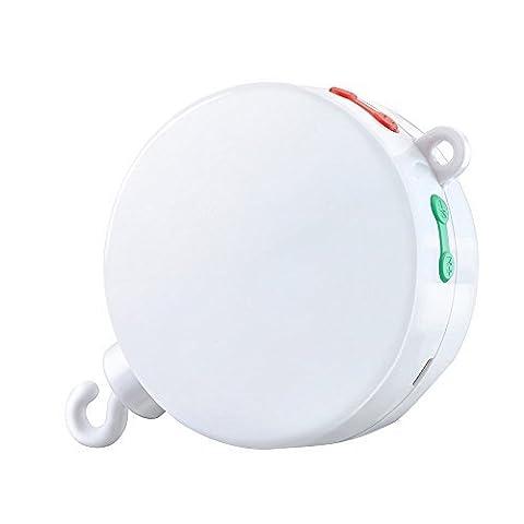 Aoeatop Elektrische Baby Spieluhr mit 128 MB Micro-SD-Speicherkarte für Ihr Babymobile, 12 Melodien inklusive