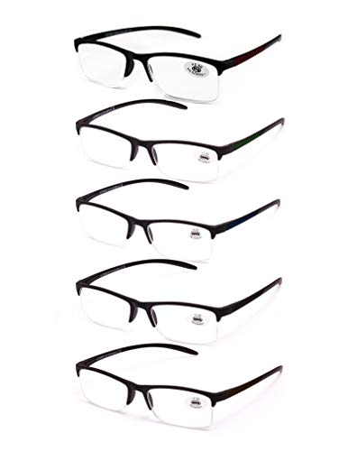 824543503a Pack de 5 Gafas de Lectura Vista Cansada Presbicia, Gafas de Hombre y Mujer  Unisex