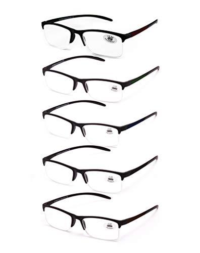 e620f60f21 Pack de 5 Gafas de Lectura Vista Cansada Presbicia, Gafas de Hombre y Mujer  Unisex