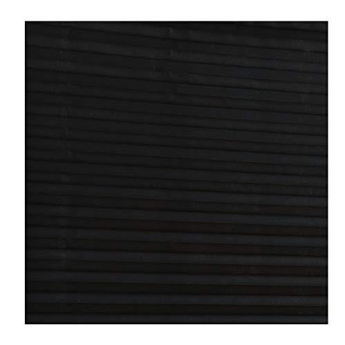 Sada72 tessuto non tessuto tenda plissettata, autoadesivi, balcone sfumature avvolgibile per ufficio/cucina/porta/finestra, nero, 90 * 150cm