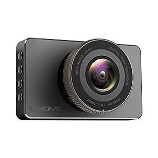 Dashcam, Ilihome 1080P Full HD Autokamera DVR Video Recorder mit 170° Weitwinkelobjektiv, G-Sensor, WDR, Bewegungserkennung, Parkmonitor, Loop-Aufnahme, Nachtsicht