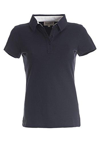 DESIRES Lillian Poloshirt, Größe:S;Farbe:Insignia Blue - Frauen Polo-shirts