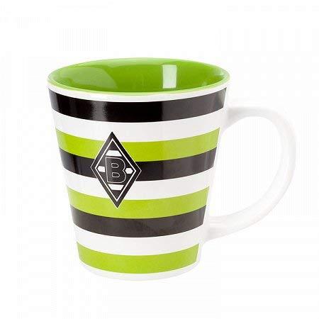 Preisvergleich Produktbild Unbekannt VFL Borussia Mönchengladbach Borussia Mönchengladbach-Fohlenelf-Artikel-Tasse Stripes-Keramik Kaffee,  weiß,  One Size