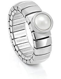 Nomination Damen-Ring Lotus Stahl weisse Perle 043101/013