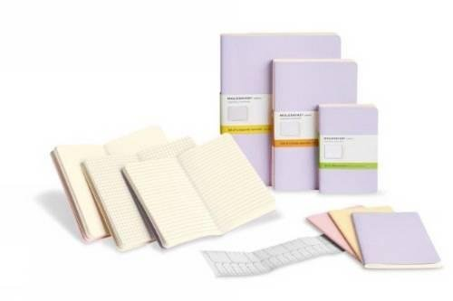 Moleskine Cahier Large Trio Pastel Plain Notebook - Multicolour