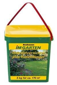 Unkrautvernichter plus Rasendünger - Beckmann im Garten, 5 kg, für 170 Quadratmeter