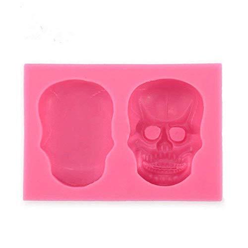 Nikgic Halloween 3D Totenkopf Silikon Formen Fondant Candy Jelly Ice Kuchen Schokolade Form DIY Backform Tablett Form Tools