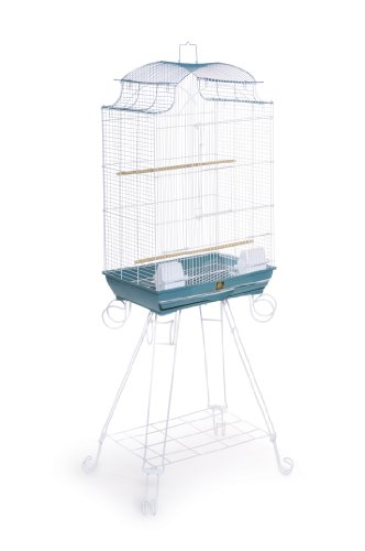 Prevue Pet Products Penthouse Suites Pagoda Roof Bird Cage with Stand 270 Blue and White, 20-Inch by 14-Inch by 29-Inch 1